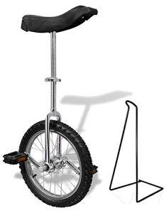 Funsport Monocycle Réglable 16 Pouces Chrome