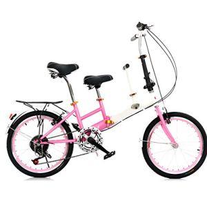 hj Parent-Enfant vélo, 20 Pouces Mère et Enfant vélo Haut en Acier au Carbone Ville Ceinture bébé Vélo Parent-Enfant vélo,Rose
