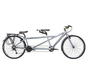 Indigo Turismo 2, Unisexe, Tandem Vélo, 24Vitesses, Roues 700C, Gris