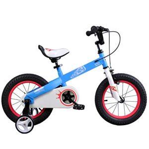 Kids' Bikes Vélos pour Enfants en Plein air Vélos pour Enfants d'âge préscolaire vélos d'exercice pour garçons et Filles Tricycles de 3 à 12 Ans, Métal, Bleu, 14inches