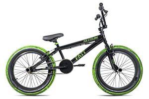 KS Cycling BMX Freestyle 20» Fatt Noir Jeunesse Unisexe, 25