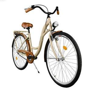 Milord. 2018 Vélo de Confort, Byciclette, Vélo Femme, Vélo de ville, 1 Vitesses, Marron, 28 Pouces