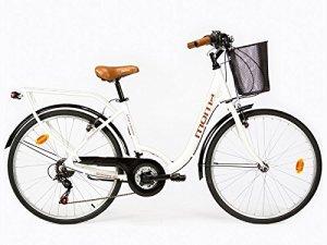 Moma Bikes, Vélo de Ville City Classic 26″, Aluminium SHIMANO 18V