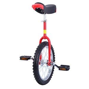 Paneltech 16″/ 20″ Kid's/Adulte Formateur Monocycle Hauteur Réglable Anti-dérapant Butyl Montagne Pneu Équilibre Cyclisme Exercice Vélo Bike (16″)