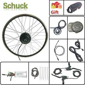 Schuck Kit de Conversion de vélo électrique 20» 48 V 500 W sans balais pour vélo électrique avec écran LED900S