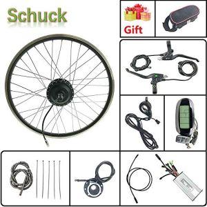 Schuck Kit de Conversion de vélo électrique 24» 48 V 500 W sans balais pour vélo électrique avec écran LCD 6