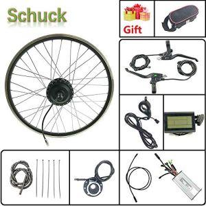 Schuck Kit de Conversion de vélo électrique 28» 48 V 500 W sans balais pour vélo électrique avec écran LCD3
