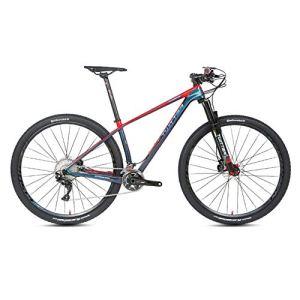 STRIKERpro VTT 27,5/29 Pouces essieu gaz d'arbre de Barillet Vitesse Montagne en Fibre de Carbone vélo Fourche 22/33 15/17/19 Pouce Rouge de Trame,33speed,29×19