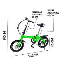 Super Bike Vélo pliant unisexe de 16″ (40,6 cm), blanc