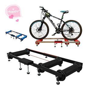 Support de Formation vélo Équitation Rouleau Plate-Forme intérieure Route Exercice Plate-Forme Vélo Formation Roller Table Spinning Vélo (Couleur : Black, Size : One Size)
