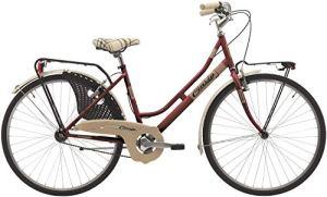 Vélo Cicli Cinzia Decoville pour femmes, cadre en acier, 6 vitesses, pneu 26″, taille 44 (Jaune Pastel, H 44)