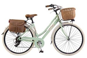 Via Veneto by Canellini Bici Vélo Citybike Byciclette CTB Femme Dame Vintage Retro Via Veneto Aluminium (Vert Clair, 50)