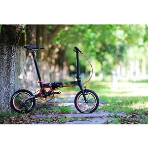 WYFDM Vélo Pliable en Aluminium 14″ 16″ V Frein 3 Vitesses 9T 13T 17T Minivelo Mini Velo Vélo Urbain de Banlieue avec roulement de Charge de 100 kg