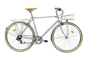 FabricBike Classic- Vélo de Ville (L-58cm, Classic Matte Grey Deluxe)