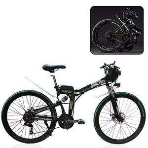 Mnjin Vélo de Montagne électrique, vélo électrique Pliant, vélo de Montagne électrique à Batterie au Lithium Pliant Adulte, vélo de Montagne Pliant pour Adultes