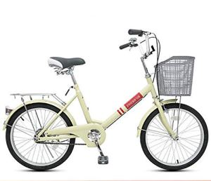 LIXIGB Vélo Cruiser Femme Firmstrong Urban Man Single Speed Beach Cruiser Bicycle 20/22 Comfort Bikes,Beige,20inch