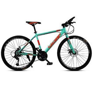 tools BMX Dirt Vélos de Route Vélo de Montagne Vélo de Route VTT Homme 24 Vitesse 24/26 Pouces Roues for Adultes Femmes (Color : Blue, Size : 24in)