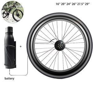 TSSM Mountain Bike électrique Kit de Modification, Vélo électrique Kit de Modification, APP Intelligente Precursor Pilote 36V 250W-500W Moteur,V Brake,20″