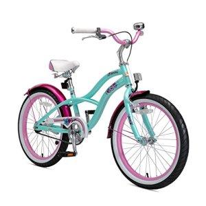 Bikestar Vélo Enfant pour Garcons et Filles de 6 Ans ★ Bicyclette Enfant 20 Pouces Cruiser avec Freins ★ Menthe