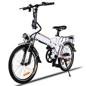 Laiozyen Vélo Electrique 20″ e-Bike VTT Pliant 36V 8AH Batterie au Lithium de Grande Capacité et Le Chargeur Premium Suspendu et Shimano Engrenage (Typ5_20»_1)