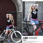 Stripped Retour Fixie Système de freinage, Vélo de route, 26 pouces Vélos, cadre en acier au carbone à haute, Route de vélos de course, et les femmes adultes hommes, (Color : C)