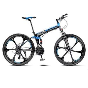 tools BMX Dirt Vélos de Route VTT Vélo de Route Pliant Vélos de VTT Hommes 21 Vitesses 24/26 Pouces Roues for Femmes Adultes (Color : Blue, Size : 26in)