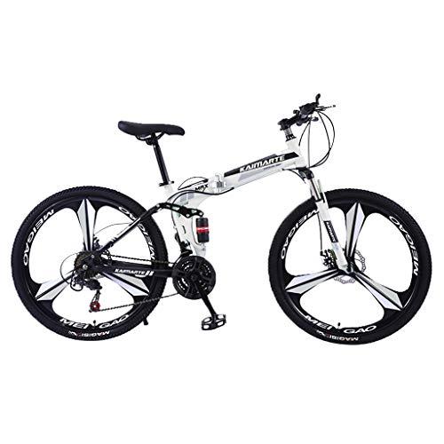 Vélo de Montagne, Lomsarsh Vélo de Montagne Pliable 26 Pouces,Pliant VTT Vélo,Pliable Bicyclette pour Homme et Femme approprié au Cycle extérieur – 21 Vitesses