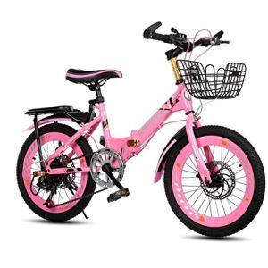 ZTBXQ Sports de Plein air Banlieue Ville vélo de Route vélo Voyage Pliant vélo pour Enfants Vitesse de laMontagne20 Pouces 6-8-10 Ans garçon Fille vélo