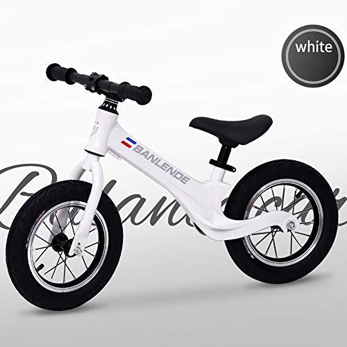 AMAZOM Vélo D'équilibre, pour Vélo D'équilibre pour Enfants 1-3-6 Ans sans Pédale Marche Vélo D'entraînement Vélo D'équilibre pour Enfants Et Tout-Petits,Blanc