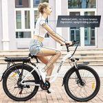 ANCHEER 26″ Vélo électrique de Ville avec Batterie Amovible 12,5 Ah, Freins à Double Disque 35 Miles (Vélo de Ville- Blanc)