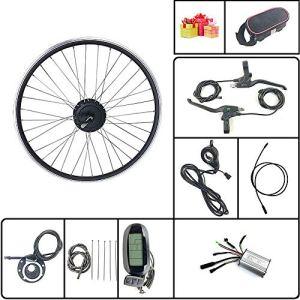 Schuck Kit de Conversion de vélo électrique avec écran LCD6 36V/48V 350W Rayons et Jantes de Rotation de Roue arrière de vélo électrique (36V350W LCD6 700C)