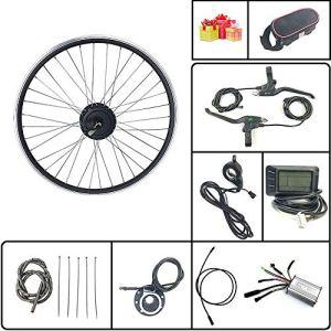 Schuck Kit de Conversion de vélo électrique avec écran LCD7 36V/48V 350W Rayons et Jantes de Rotation de Roue arrière de vélo électrique (36V350W LCD7 29inch)