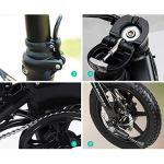 TUKING Vélos électriques pliants pour Adultes, Vélos Confort, Vélos couchés/de Route Hybrides, Alliage d'aluminium, 17,5 kg, Trois Modes de Puissance(Noir) Peut être reçu dans Les 2-9 Jours