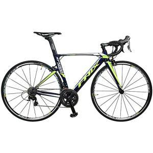 WJSW Vélo Route, vélo Route Aluminium léger 22 Vitesses, vélo Course pour Hommes Adultes, Fourche Fibre Carbone, vélo Ville, Bleu, 470