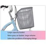 WOF 26 Pouces vélo de vélo for Les Femmes Adultes vélo avec Panier Ultra léger Portable étudiant Homme vélo Confort Simple Adulte Cruiser de vélo Femmes vélo (Color : B)