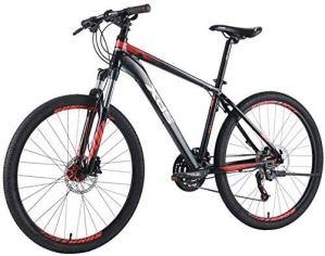 Zjcpow 26 Pouces Adultes Mountain Bikes, 27 Vitesses Vélo de Montagne, Aluminium Cadre Hommes VTT, Double Suspension Alpine vélos, (Taille: M) xuwuhz (Size : Medium)