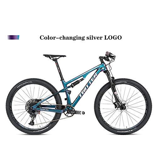 BIKERISK Vélo de Montagne à Queue Souple en Fibre de Carbone VTT Double Choc Vélo de Montagne Convient pour XC/AM/DH etc,7,29 * 17.5