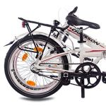 CHRISSON '20Pouces de vélo Pliable Pliant en Aluminium vélo foldrider 2.0avec 3Vitesses Shimano Nexus Blanc