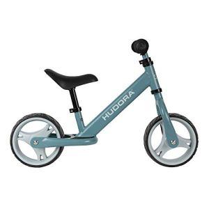 Hudora 10414/00 Youngster Vélo pour Enfant à partir de 2 Ans avec pneus Extra Larges Selle et Guidon réglables en Hauteur Bleu