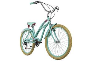 KS Cycling Mixte – Adulte Beachcruiser 26 » Splash Vert Cadre Aluminium RH 44cm 26″