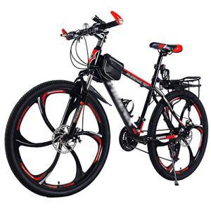 LWZ 26 Pouces VTT vélo Adulte en Plein air Sport vélos d'exercice Absorption des Chocs Cyclisme vélos de Route Hardtail City Bike