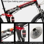 LWZ Vélo de Montagne Suspension complète 26 Pouces vélo Pliant Hommes Femmes Absorption des Chocs Double Frein à Disque VTT vélos de Route en Acier à Haute teneur en Carbone