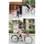 MALY Vélo Tandem avec Bicyclette Parent-Enfant Siège Avant Système De Freinage Sensible Adapté pour Voyager avec Un Bébé,Rose