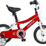 Moma Bikes Vélo 12″ avec Petites Roues Inclus, Ideal pour Enfant a partir de 3 Ans de 80 a 105cm Mixte, Rouge