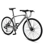 NENGGE 30 Vitesses Vélos de Route, Hommes Femmes Cadre en Alliage Vélo Ultraléger, Double Frein à Disque, 26 Pouces Velo de Course,Gris
