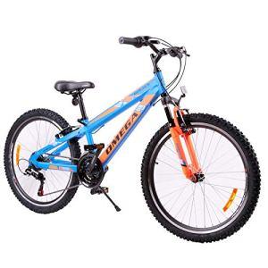 OMEGA BIKES Vélo de Route Unisexe pour Enfant Bleu 24 Ans