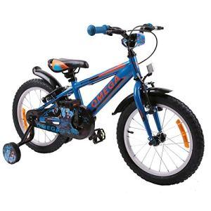 OMEGA BIKES – Vélo de Ville Unisexe pour Enfant – Blanc – Taille 20