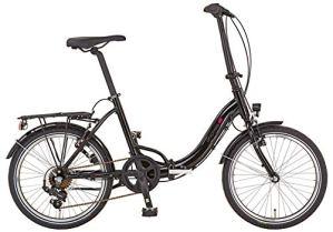 Prophete Urban BSU.10 Vélo de Ville 20″ Mixte Adulte, Noir, RH 39