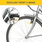 Sehrgo Tricycle pour Adultes, vélo de 20 Pouces avec vélos de Ville 7 Vitesses avec Panier en Gris sidéral