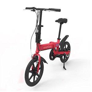 SMARTGYRO EBIKE Red Vélo électrique Pliant, Roues de 16″ et Batterie extractible au Lithium de 4400 mAh 24V (Rouge) Mixte Adulte